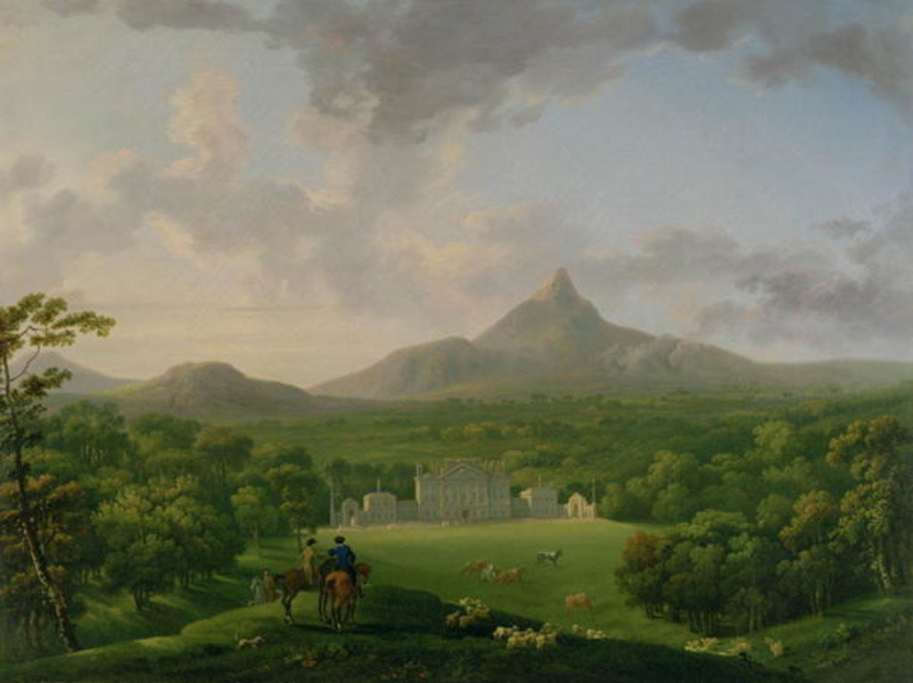 Detail of View of Powerscourt, County Wicklow by George the Elder Barret