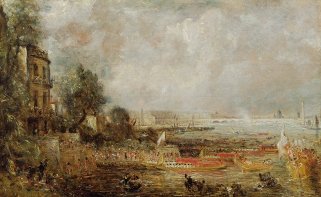 Detail of The Opening of Waterloo Bridge by John Constable