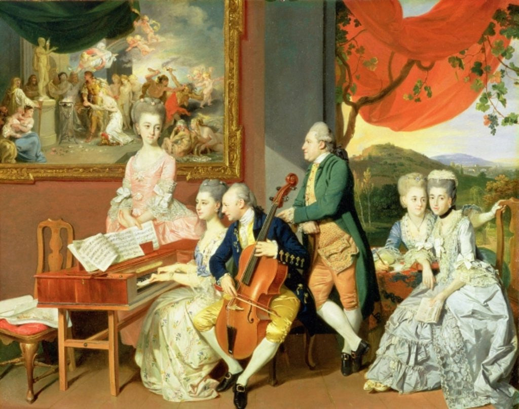 Detail of George, 3rd Earl Cowper, with the Family of Charles Gore by Johann Zoffany
