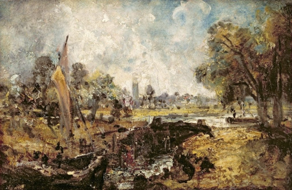 Detail of Dedham Lock by John Constable