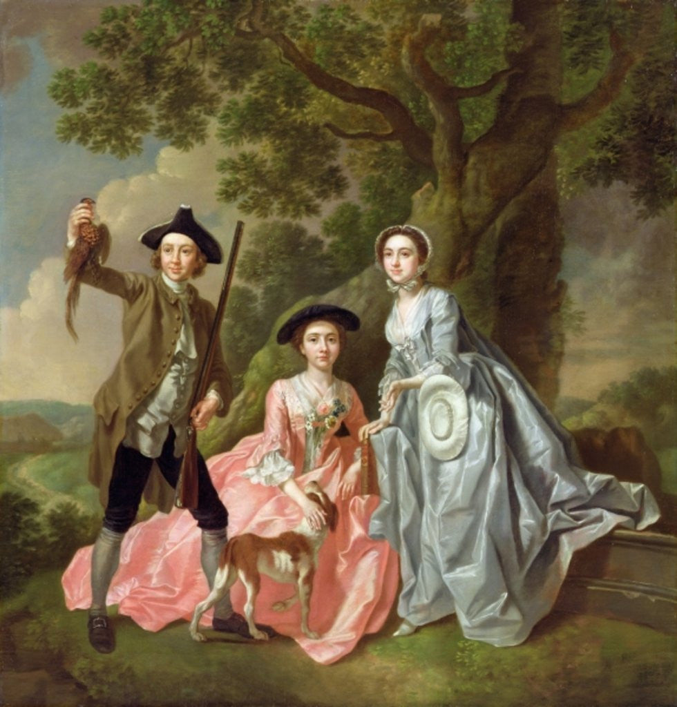 Detail of George Rogers with his Wife, Margaret, and his Sister, Margaret Rogers by Francis Hayman