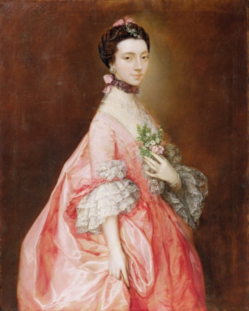 Detail of Mary Little, Later Lady Carr by Thomas Gainsborough
