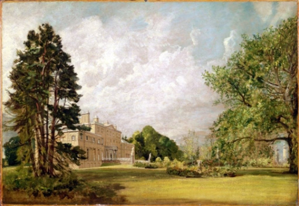 Detail of Malvern Hall, Warwickshire by John Constable