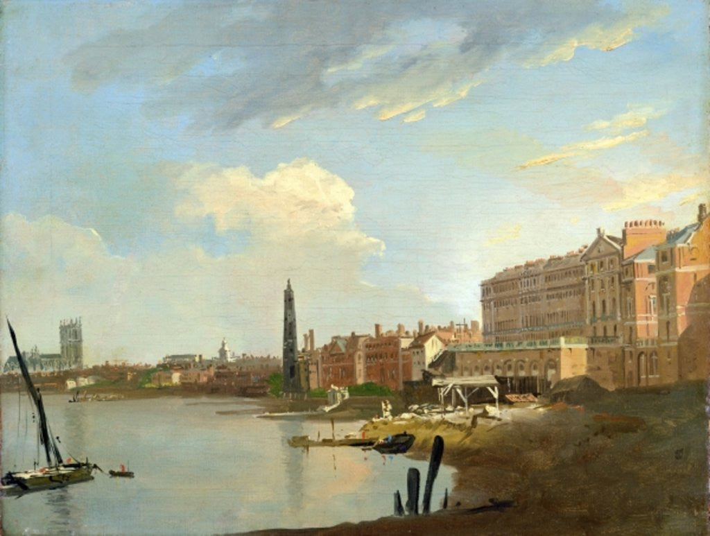 Detail of A Study of the Thames with the Final Stages of the Adelphi by William Marlow