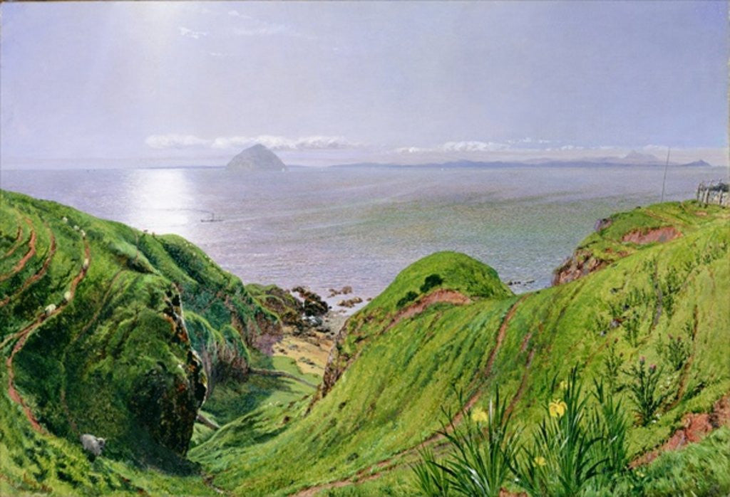 Detail of A View of Ailsa Craig and the Isle of Arran by William Bell Scott