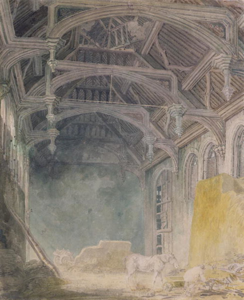 Detail of Interior of St. John's Palace, Eltham by Joseph Mallord William Turner