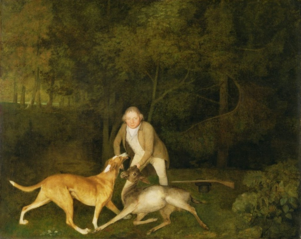 Detail of Freeman, the Earl of Clarendon's Gamekeeper, With a Dying Doe and Hound by George Stubbs