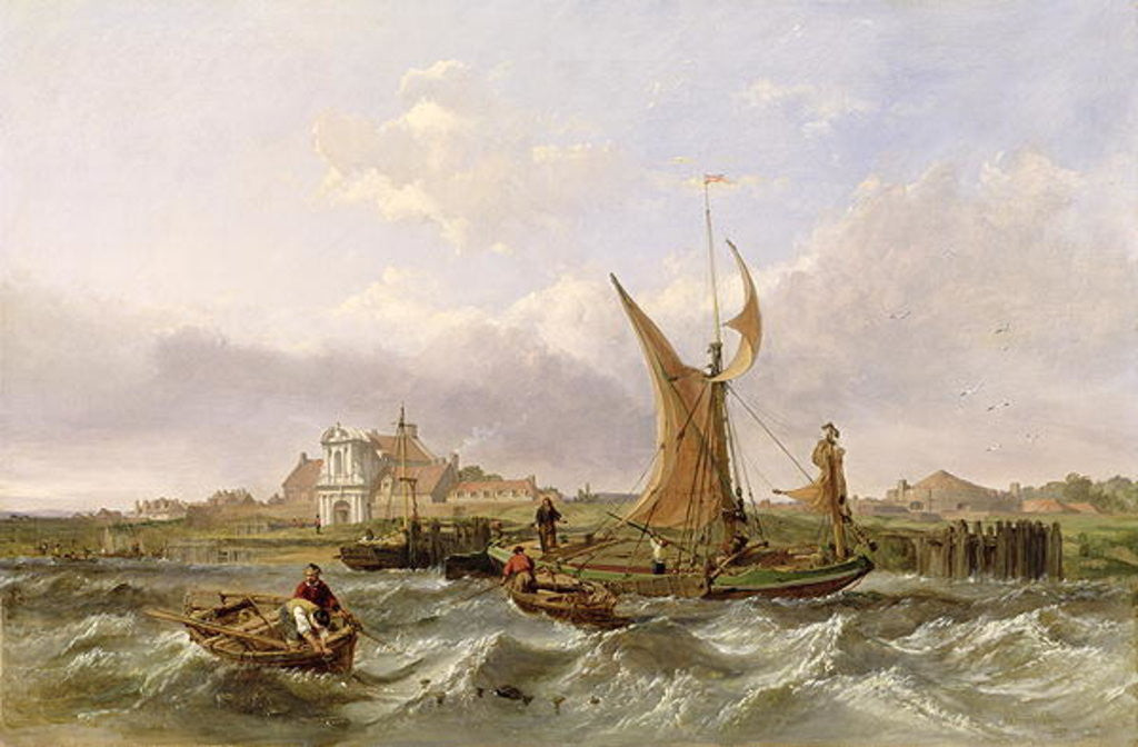 Detail of Tilbury Fort - Wind Against the Tide by Clarkson R.A. Stanfield