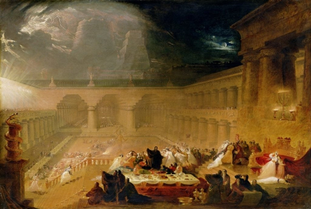 Detail of Belshazzar's Feast by John Martin