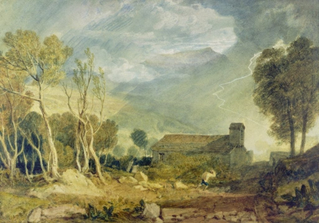 Detail of Patterdale Old Church by Joseph Mallord William Turner