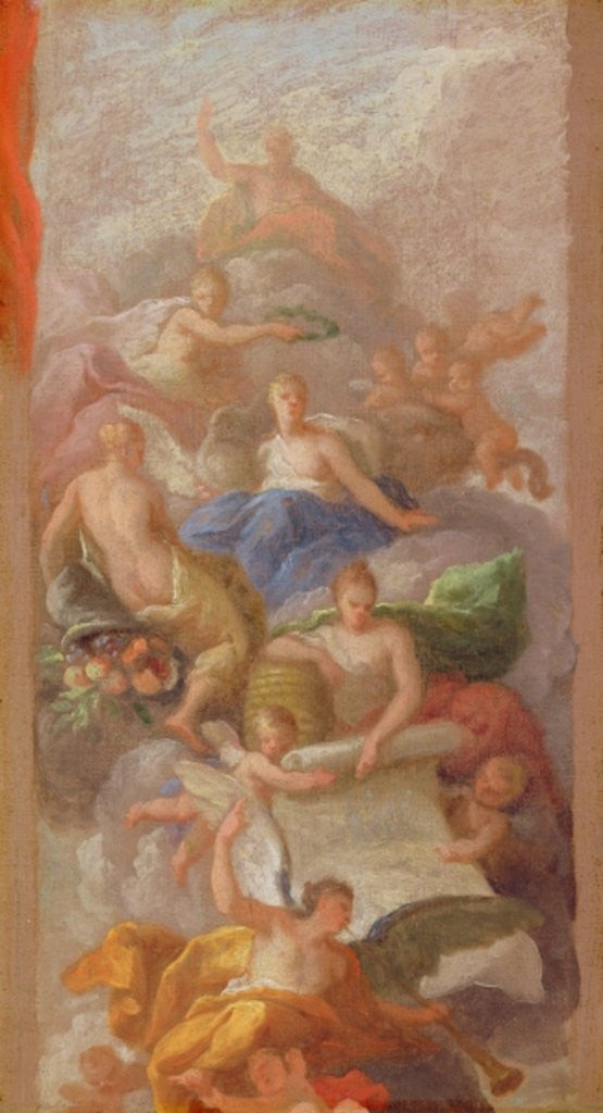 Detail of A Sketch of Gratitude Crowned by Peace, with Other Allegorical Figures of Industry, Fame and Plenty by Sir James Thornhill
