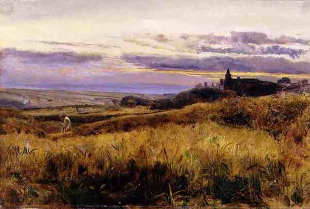Detail of Cornfield at Sunset by John William Inchbold