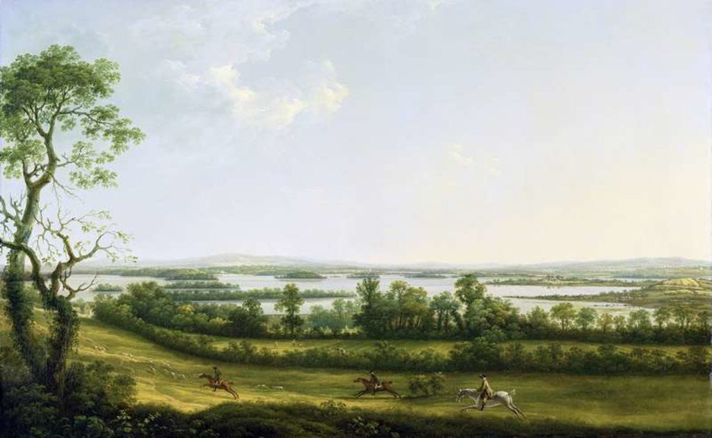 Lough Erne from Knock Ninney, with Bellisle in the Distance, County Fermanagh, Ireland