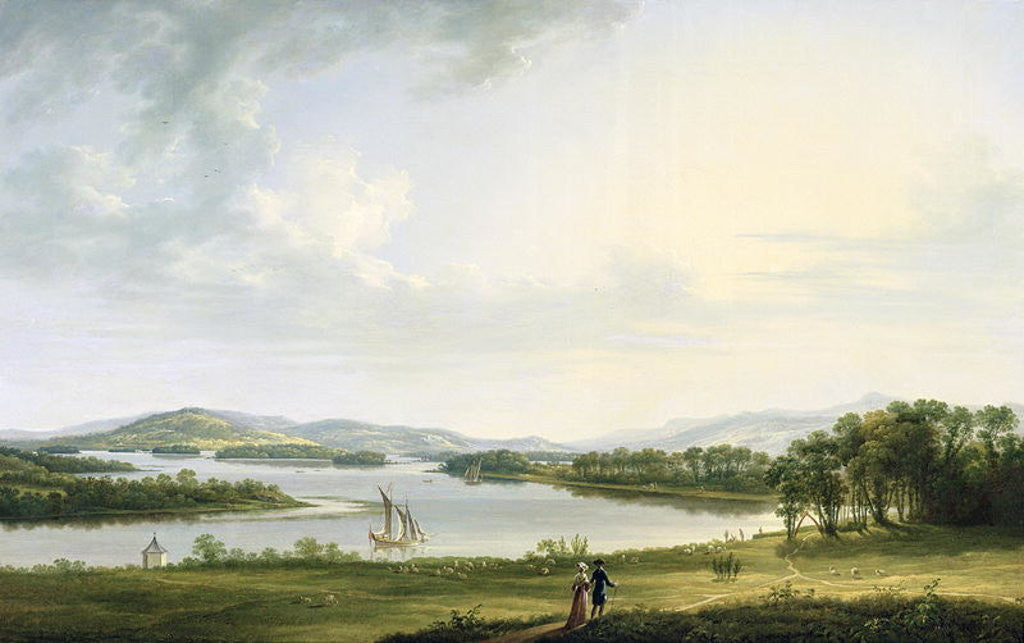 Detail of A View of Knock Ninney and Part of Lough Erne from Bellisle, County Fermanagh by Thomas Roberts