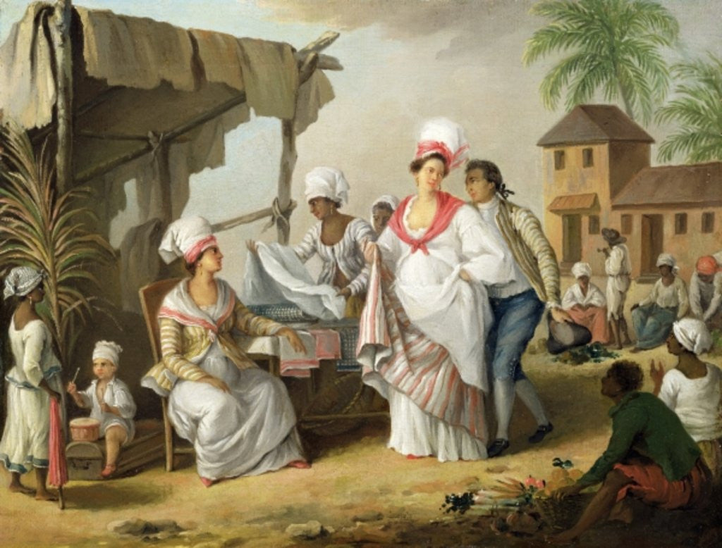 Detail of Linen Market, Roseau, Dominica by Agostino Brunias