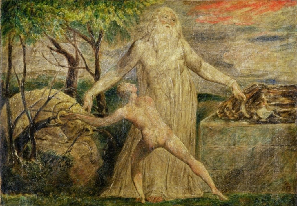 Detail of Abraham and Isaac, 1799-1800 by William Blake