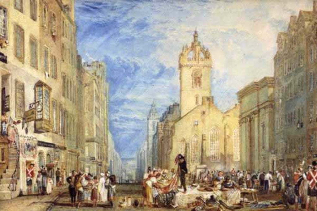 Detail of High Street, Edinburgh by Joseph Mallord William Turner