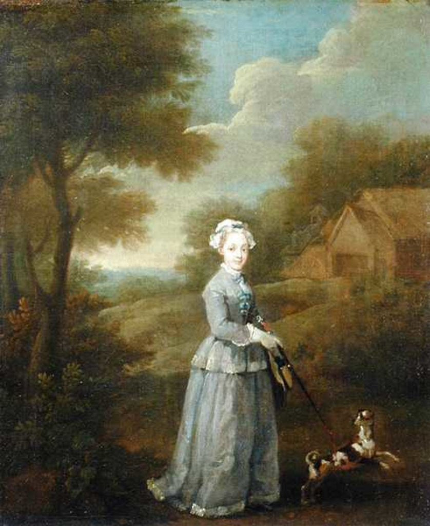 Detail of Miss Wood with her Dog by William Hogarth