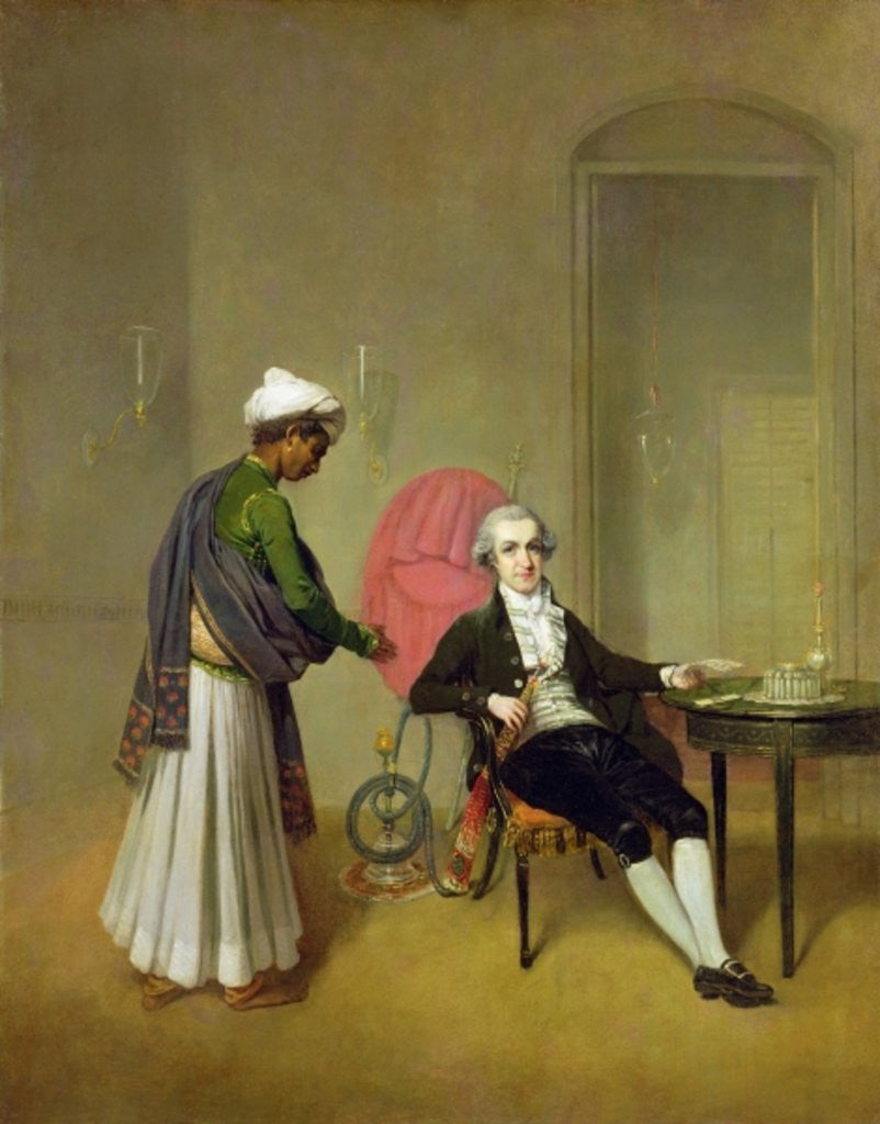 Detail of A Gentleman, possibly William Hickey, and his Indian Servant by Arthur Devis