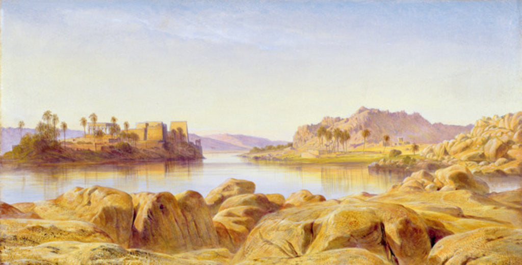 Detail of Philae, Egypt by Edward Lear