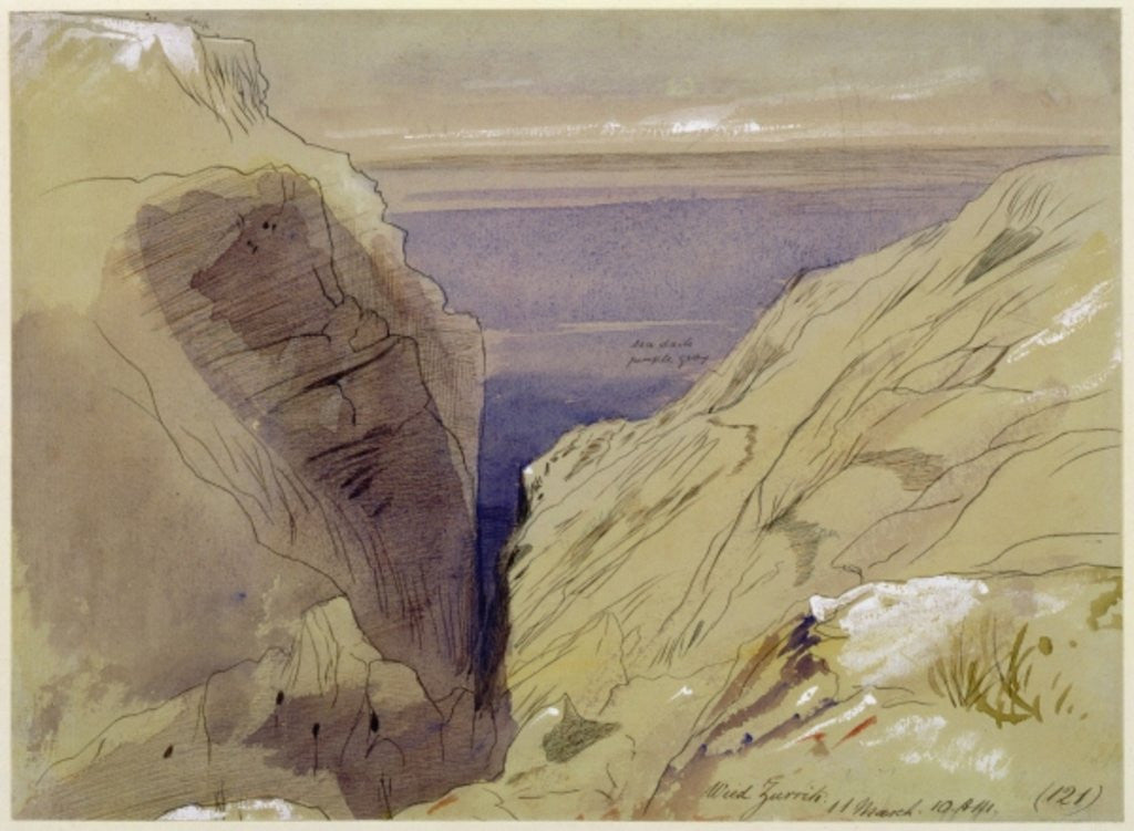 Wied Zurrik, Malta, 10 am, 11th March by Edward Lear