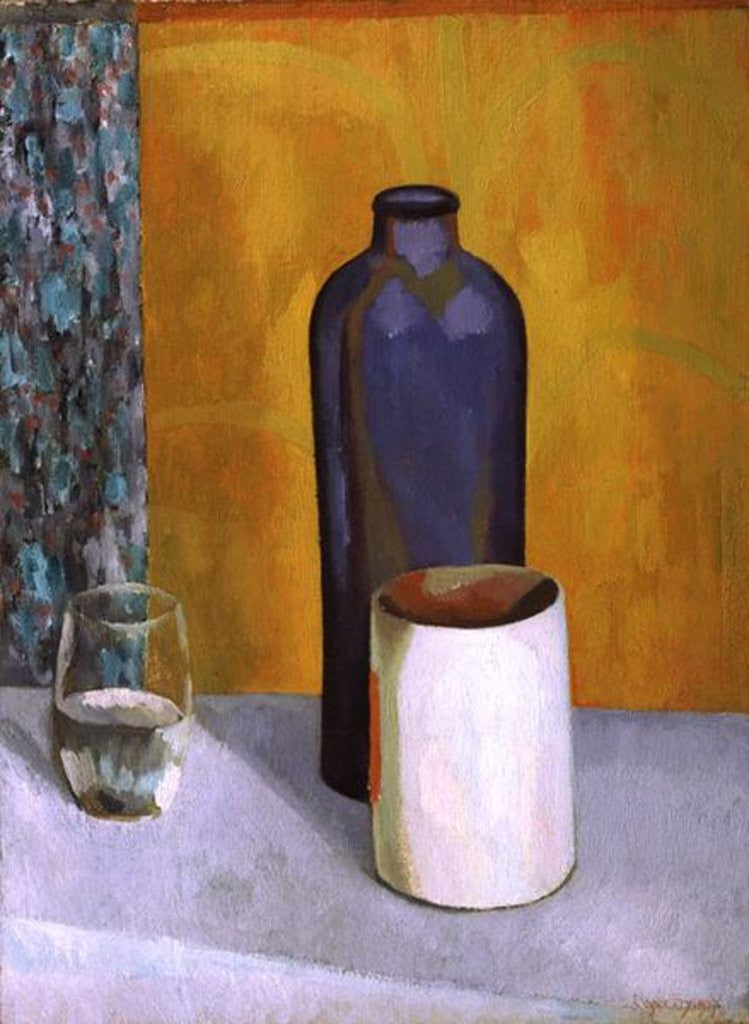 Detail of Still Life with a Blue Bottle by Roger Eliot Fry