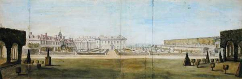 Detail of A View of the Garden and House at Upper Winchendon, Buckinghamshire by Peter Tillemans