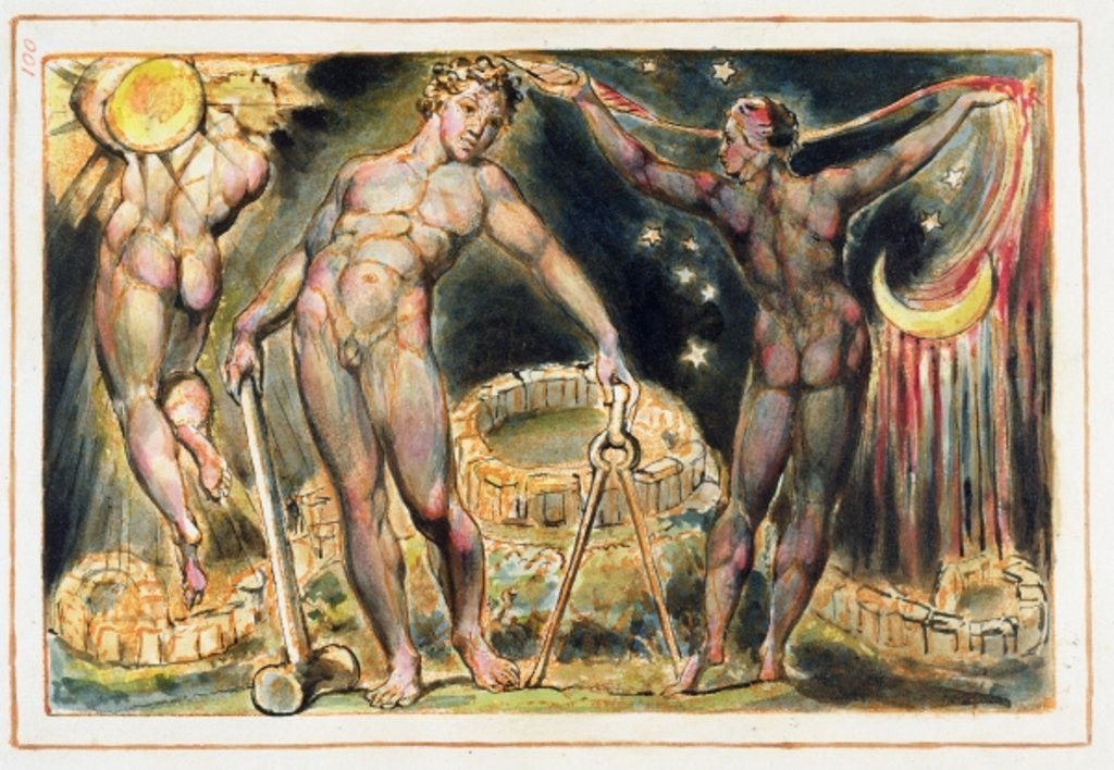 Detail of Plate 100 from 'Jerusalem' (Bentley Copy E) by William Blake