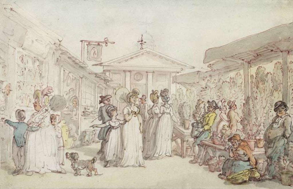 Detail of Covent Garden Market by Thomas Rowlandson