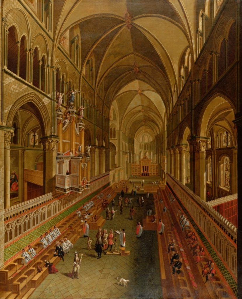 Detail of Interior of Canterbury Cathedral by English School