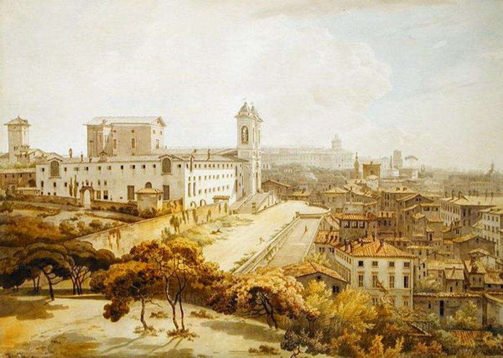 Detail of A View of Rome taken from the Pincio by William Pars