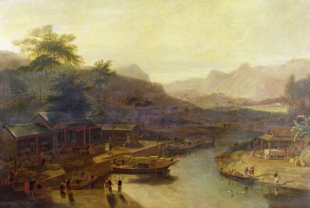 Detail of A View in China: Cultivating the Tea Plant by William Daniell