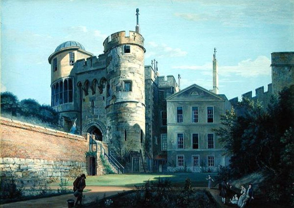 Detail of The Norman Gate and Deputy Governor's House by Paul Sandby