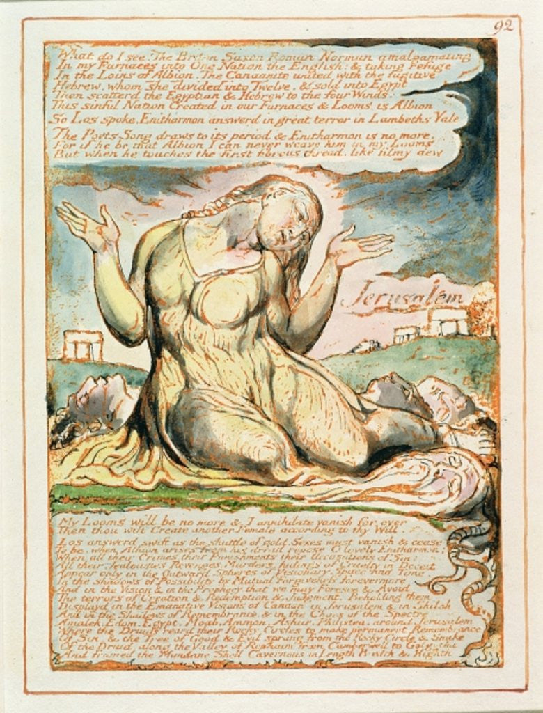 Detail of What do I See!... by William Blake