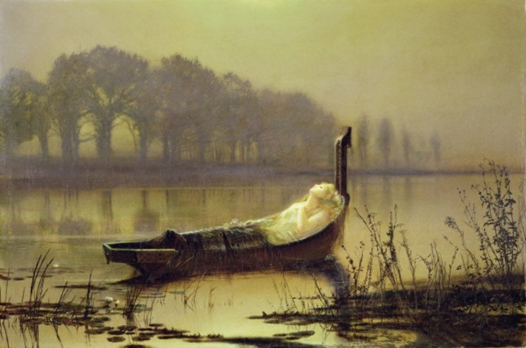 Detail of The Lady of Shalott by John Atkinson Grimshaw