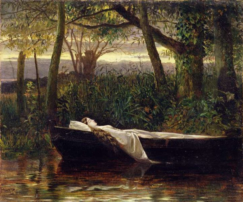 Detail of The Lady of Shalott by Walter Crane