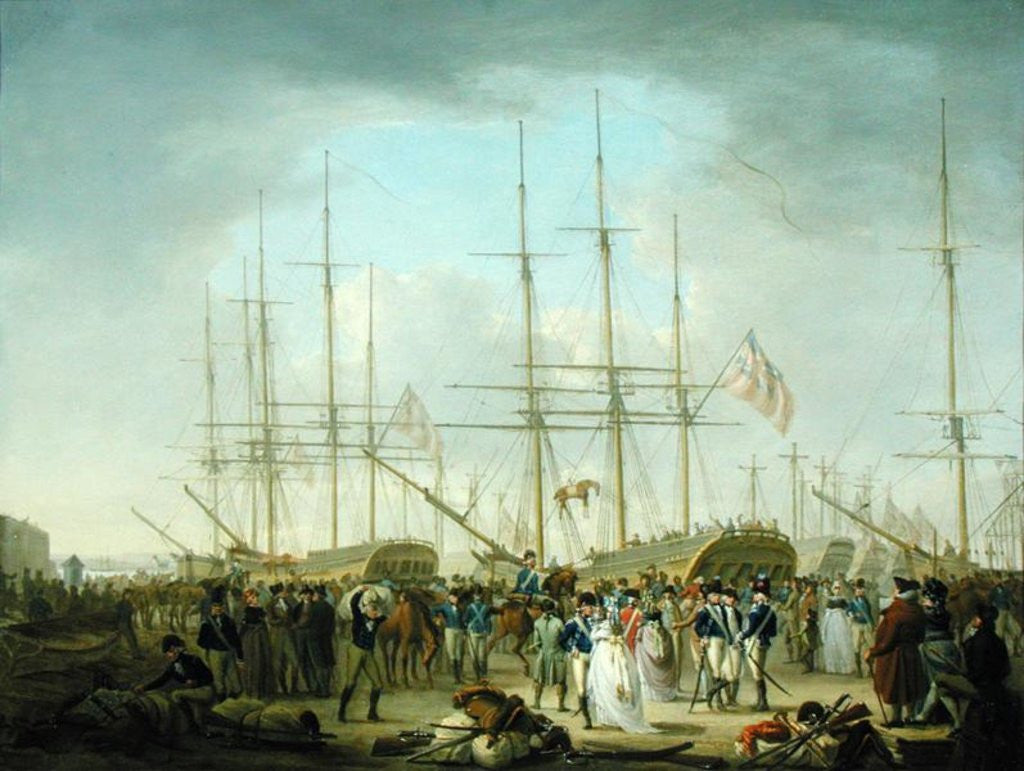Detail of Hussars Embarking at Deptford by William Anderson