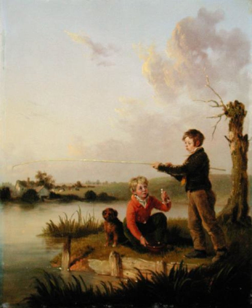 Detail of The Young Anglers by Edmund Bristow