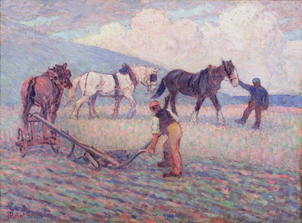 Detail of The Turn-Rice Plough by Robert Polhill Bevan