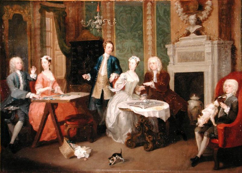 Detail of Portrait of a Family by William Hogarth
