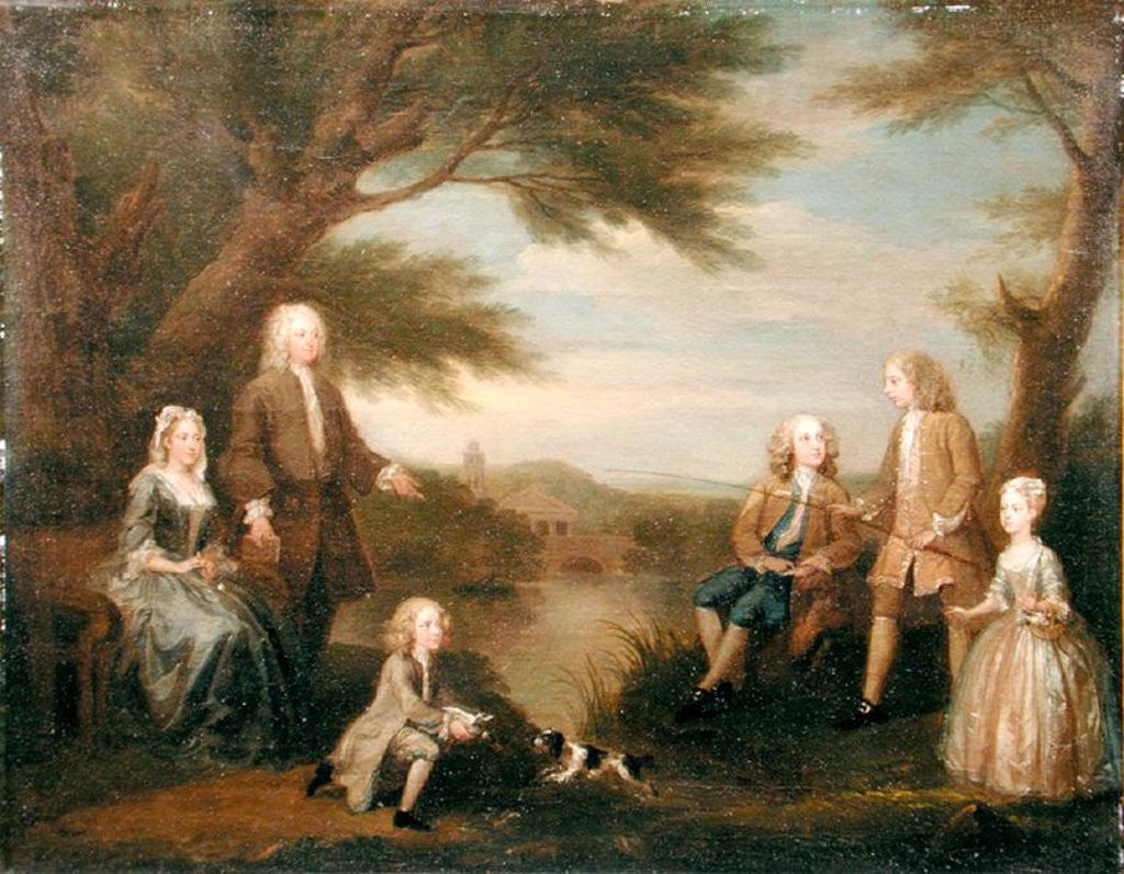 Detail of John and Elizabeth Jeffreys and their Children by William Hogarth