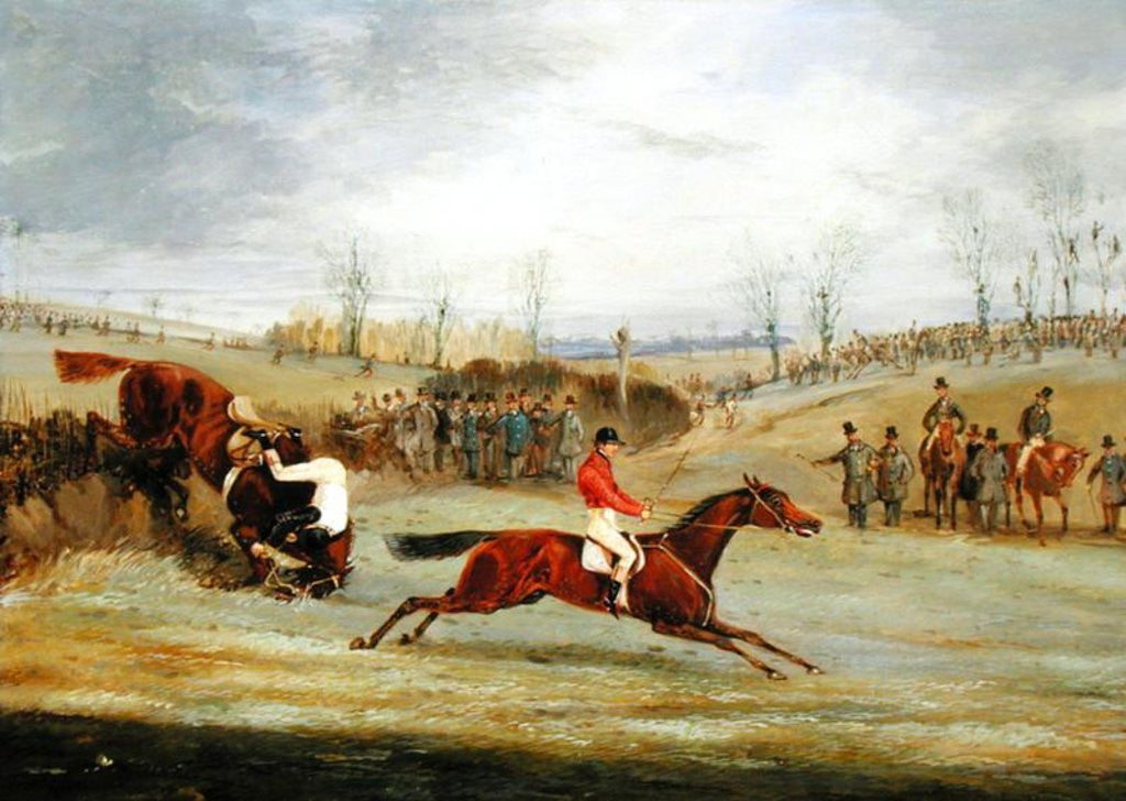 Detail of A Steeplechase, Another Hedge by Henry Thomas Alken