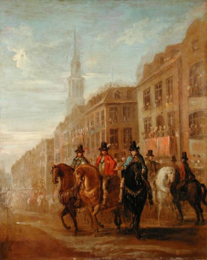 Detail of Restoration Procession of Charles II at Cheapside by William Hogarth