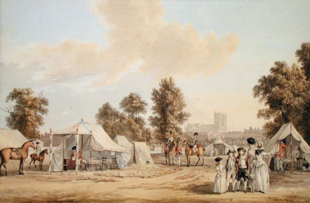 Detail of An encampment in St. James's Park by Paul Sandby