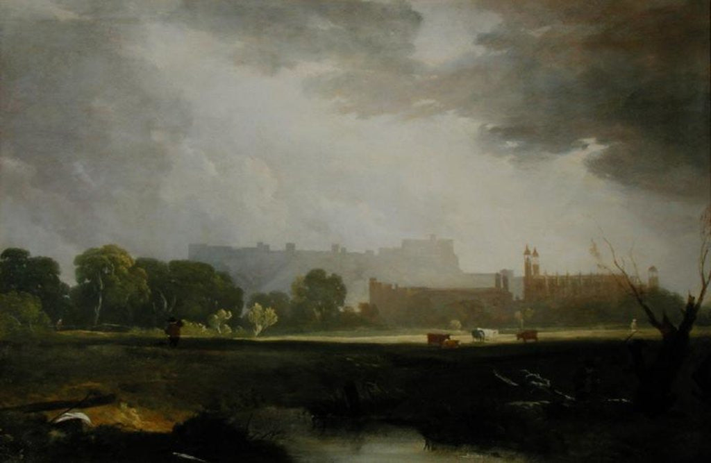 Detail of Windsor from Eton by Sir Augustus Wall Callcott