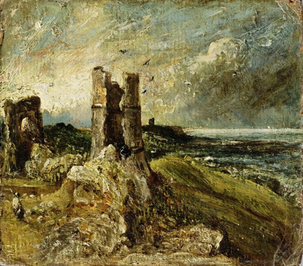Detail of Sketch of Hadleigh Castle (recto) by John Constable