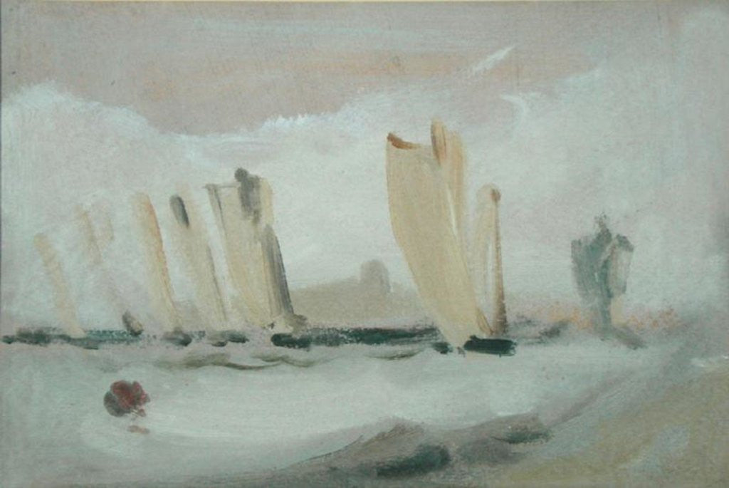 Detail of Yacht Racing on the Solent by English School