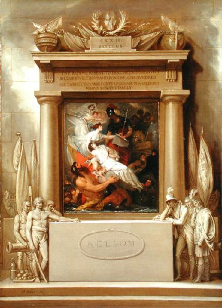 Detail of Project for a Monument, 'The Apotheosis of Nelson' by Benjamin West
