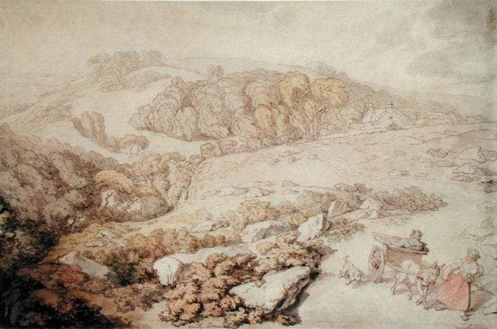 Bodmin Moor, North Cornwall by Thomas Rowlandson