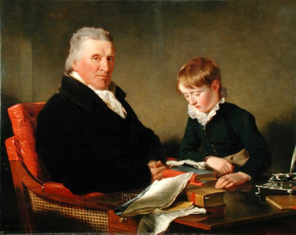 Detail of Francis Noel Clarke Mundy and his Grandson, William Mundy by Ramsay Richard Reinagle